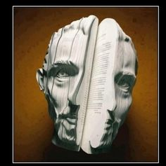 Upcycled book art.