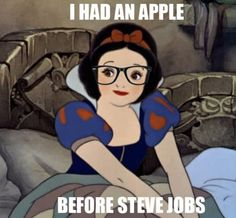 hipsters, disney princesses, hipster disney, funni, humor, hipster snow, apples, steve jobs, snow white