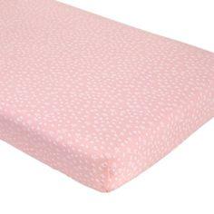 crib sheet, pink star, fit crib