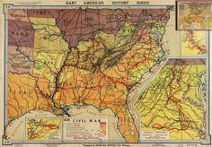 American history Civil War map
