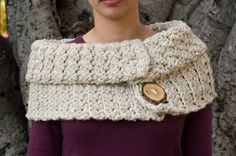 Crochet Two Button Cowl