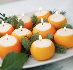 Candles in Orange Peels