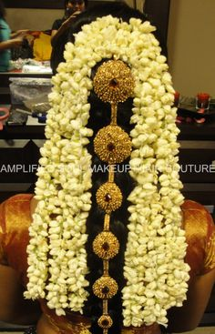 South Indian bridal hair