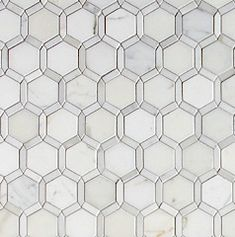 Tangent Lattice in Calacata - a contemporary take on the classic hexagon