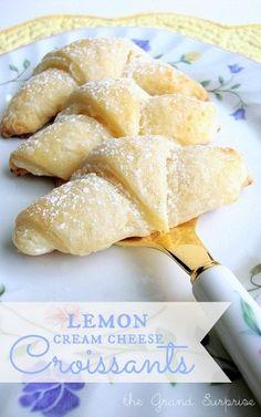 lemon~cream cheese Croissants