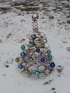 Bed springs Christmas tree