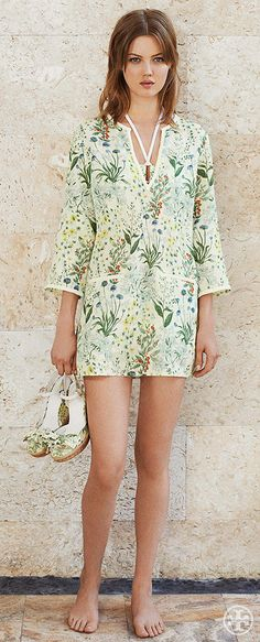 Coordinate your wedges with your swim cover-up — or the other way around | Tory Burch Summer 2014