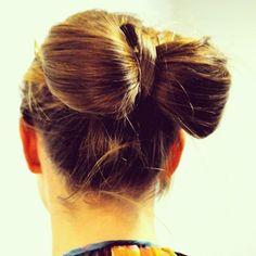 make a bow bun
