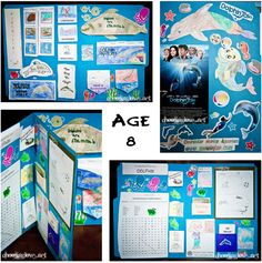 Dolphin lap book with Dolphin Tale movie postcard