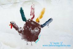 Turkey Handprint - great craft idea for kids