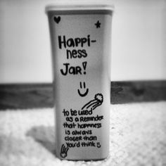 I made a Happiness Jar today to write down the good things in 2013 =] I hope I run out of storage space for the paper slips! Re-purposed from a single-serve powdered drink container.
