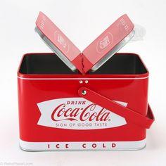 Coca-Cola Picnic Basket Tin Box