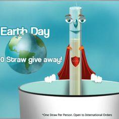 1000 GlassDharma free glass straw giveaway for Earth Day 2014!  #plasticisdrastic