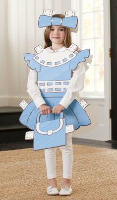 DIY paperdoll Halloween costume. Very cute!