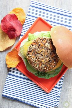 Veggie Burger.  Vegan.  Gluten Free.