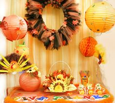 Fun Kid's Thanksgiving Party.  See more party ideas at CatchMyParty.com. #thanksgivingparty