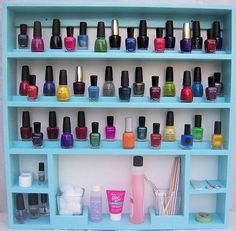 Nail Polish Rack- Manicure Accessories Organizer that hangs on the wall!