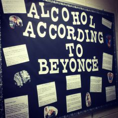 #RA #BulletinBoard #Beyonce #alcohol