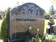 Grave Marker- Gregory Hines, American actor and dancer. Hines is interred at Saint Volodymyr's Ukrainian Orthodox Cemetery in Oakville, Ontario, Canada, the country in which he met Negrita. Negrita, who died in 2009, is buried next to him. (More go to: http://www.thefuneralsource.org/deathiversary/august/09.html)