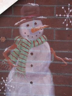paint idea, christma decor, shutter, window screen ideas, old windows, paint craft, christma idea, how to paint window screens, holiday idea