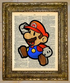 Paper Mario Dictionary Art.   by atthedrivein