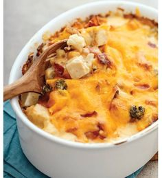 Ultimate Mock Mac and Cheese Casserole with Broccoli, Chicken and Bacon