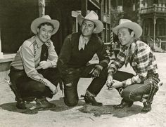 """Three Great Cowboys . . . Monte Hale, Allan """"Rocky"""" Lane and Roy Rogers"""
