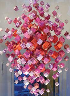 Origami Chandeliers via @ http://www.theluxuryspot.com/2011/07/02/decor-spotting-origami-chandeliers/