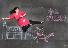 Disney Ladies Chalk Photography: MULAN