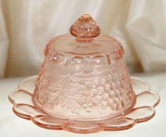 Vintage Pink Depression Pink Depression Glass Round by Ariamel, $40.00
