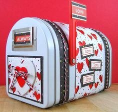 Love mailbox by Beverly Sizemore - Scrapbook.com - Decorate a Hampton Art mailbox for unique gift packaging!