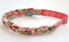 Handmade braided fabric headband on Etsy