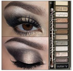 A look using the Naked 2 Pallette