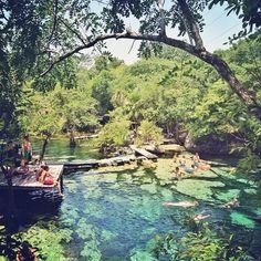 cenote azul. tulum, mexico