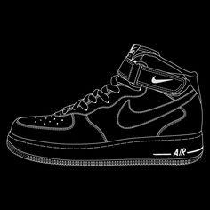 Nike x ilovedust AF1 by Rob Trigg, via Behance