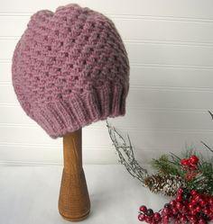 Hand Knit Slouch Hat Rose Pink by WindyCityKnits on Etsy, $25.00 #etsy #pink #valentine #hat #knit #soft #fashion
