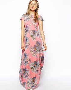 ASOS Floral T-Shirt Maxi Dress