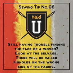 #MoodSewingTip How to find the face of a woven fabric #MoodLovesU #BeInspired