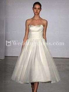 Calf length wedding dresses on pinterest lace wedding for Calf length wedding dresses