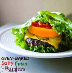 Oven-Baked Salty Onion Burgers