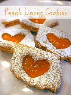 Peach Linzer Cookie(F)