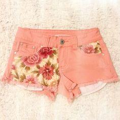 DIY floral shorts