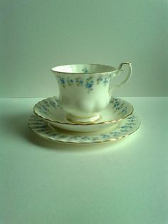 Royal Albert Memory Lane teacup trio on Etsy, $14.94