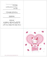 Hello Kitty sleepover party invite - for all Hello Kitty fans - if you need Hello Kitty coloring pages for your party - make sure you go to ...
