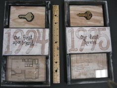 Cute Idea-- Handpainted Frames for  Our first Home and Our first Apartment Frame Anniversary Gift.