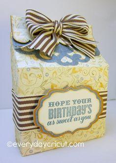 Artiste Birthday Gift Box from Everyday Cricut! #Cricut