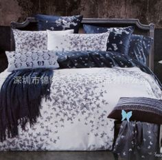 bedding, butterfli, bedroom idea, dream bedroom, suit, hous, beauty, apartments, bed idea