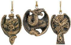 Amazon.com: 3-Piece Gothic Holiday Dragon Ornament Set