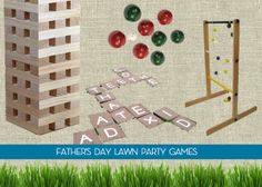 Make these DIY lawn games ideas for your Father's Day bash!