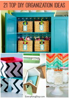 21 Top DIY Home Organization Ideas - Get organized without spending a ton! EverythingEtsy.com #diy #organize #recycle